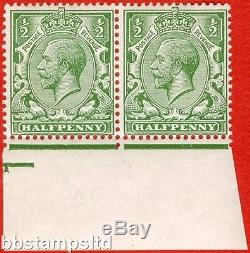 SG. 351. N14 (1) ea. ½d green. DOUBLE WATERMARK. A very RARE superb mint