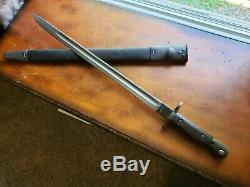 SMLE No 1 MkIII Lee Enfield Bayonet 1907 R Mole Rare with scabbard WW1