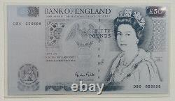 Series D' 50 Pounds 1981-1996 Silver Banknote Unc Rare Great Britain Uk