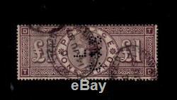Sg 185 Queen Victoria £1 Rare lilac/brown stamp