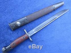 Super Rare Original Australian Owen Mk1 Bayonet And Original Scabbard