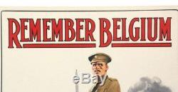 Superb Very Rare Original Uk Ww1 Recruiting Poster No 16 Remember Belgium