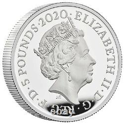 THREE GRACES 2020 UK TWO-OUNCE SILVER PROOF COIN RARE PROOF COIN 2 oz