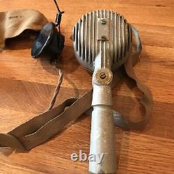 Tannoy Microphone & Headset In Box Rare Ww2 British Military Issue Raf Scramble