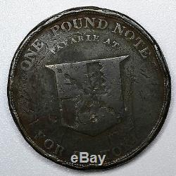 Trade Token Great Britain-Warwickshire, 3P Pence 1813, Birmingham Workhouse Rare