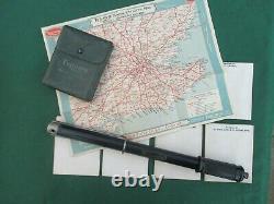 ULTRA RARE TRIUMPH MOTORCYCLE 1930, s-1940 ORIGINAL TOOLKIT, TYRE PUMP & MAPS