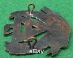 VERY RARE WW1 New Zealand YMCA WARTIME Active Service Cap badge in Bronze