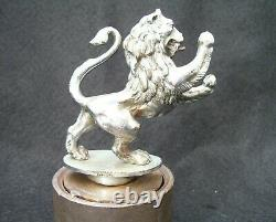 VINTAGE 1930s LUCAS PRINCE OF DARKNESS CAR MASCOT-ARGYLL LION HOOD ORNAMENT RARE