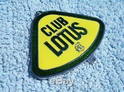 VINTAGE 1980s LOTUS CLUB CAR BADGE 7/EVORA/ELISE RACE MOTOR/TRACK RACING RARE