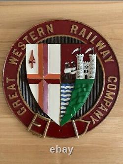 VINTAGE GREAT WESTERN RAILWAY Coat Of Arms Plaque RAREGWRTRAIN