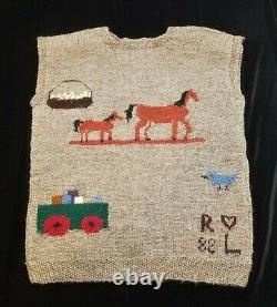 VINTAGE Ralph Lauren RL82 GREAT BRITAIN Hand Knit Family Vest Sweater RARE