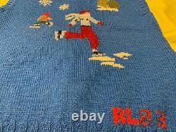 VINTAGE Ralph Lauren RL83 GREAT BRITAIN Hand Knit Family Vest Sweater RARE