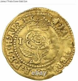 Very RARE Gold Thistle Crown, featuring James I of England
