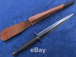 Very Rare G. Ibberson British Fairbairn Sykes Knife Commando Dagger & Sheath