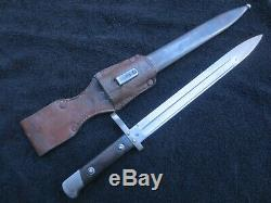 Very Rare Greek M1895 Bayonet Dagger Knife And Scabbard Made In Austria
