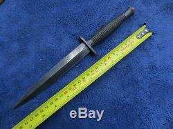 Very Rare India Contract British Fairbairn Sykes Knife Commando Dagger & Sheath