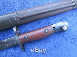 Very Rare Original Australian Owen Mk1 Bayonet And Original Scabbard