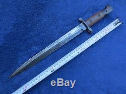 Very Rare Original British M1903 Bayonet And Scabbard Made By Sanderson