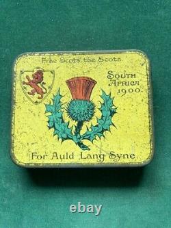 Very Rare Victorian Anglo-Boer War Scottish Regiments Tobacco Tin, c1900