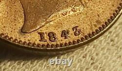 Victoria, Rare 1843/2 Farthing In Uncirculated Condition, full Luster. J18