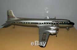 Vintage Airplane United Airlines DC 6 Desk Model Museum Display Crate 1958 Rare