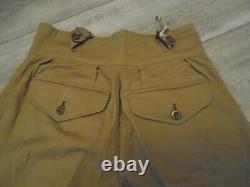 Vintage British Army Khaki Drill 1950s Pattern Shorts Waist 32 To 33 New Rare