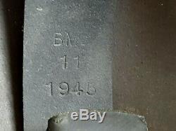 Vintage British WW2 MK IV TURTLE STEEL COMBAT HELMET 1945 Vtg RARE BMB E20 HTF