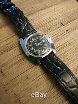 Vintage Rare 1977 Timex Marlin Great Britain Mens Dress Watch PRISTINE&SERVICED