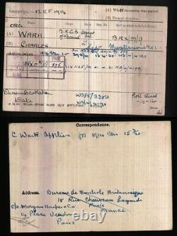 WW1 British War and Victory Pair to a Red Cross Captain! Rare