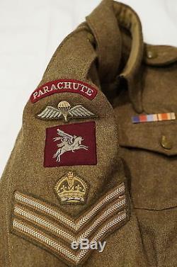 WW2 British Airborne Parachute Regiment Battle Dress Named RARE