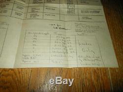 WW2 British RAF Combat Report BOMBING REPORT OVER LONDON 1944 VERY RARE