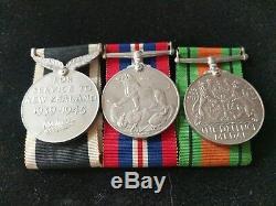 WW2 New Zealand Service Medals & Rare Pin(s) N Africa, Crete, Greece. ANZAC(7x)
