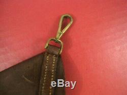 WWI Era British Leather Holster for Webley Revolver for Sam Browne Belt RARE