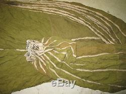 WWII British Parachute OSS DDAY Cargo Drop Container Green Canopy Pannier RARE