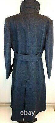 Womens RAF Greatcoat Vintage Militaria Wool British Overcoat Rare WRAF Tall