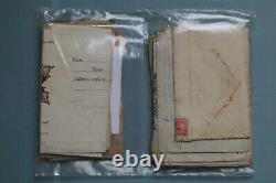 World War 1 front line soldier letters to mother original envelope lot WW1 rare
