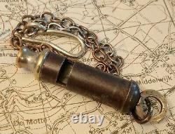 Ww1 Rare 1917 Broad Arrow Trench Whistle World War J Hudson British Army Officer
