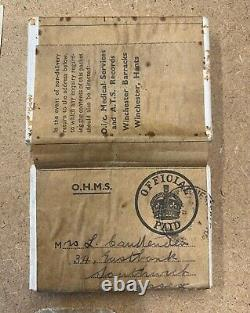 Ww2 Ats Medal Group Casualty X2 In Box + Cap Badge, & Medal Certificate. Rare