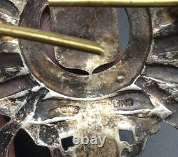Ww2 London Rifle Brigade Solid Silver Officers Cap Badge J R Gaunt & Son Rare