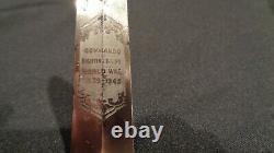 Wwii Fairbairn Sykes Stiletto Dagger Tom Beasley Ww2 F/s Dagger Rare